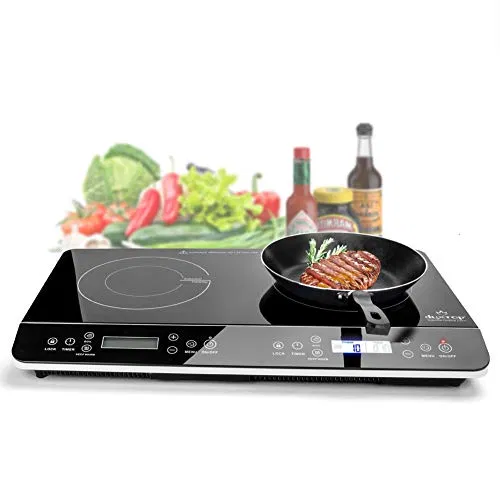 Duxtop Lcd Portable Double Induction Cooktop 1800w Digital Deals Furniturev Com Induction Cooktop Electric Stove Cooktop