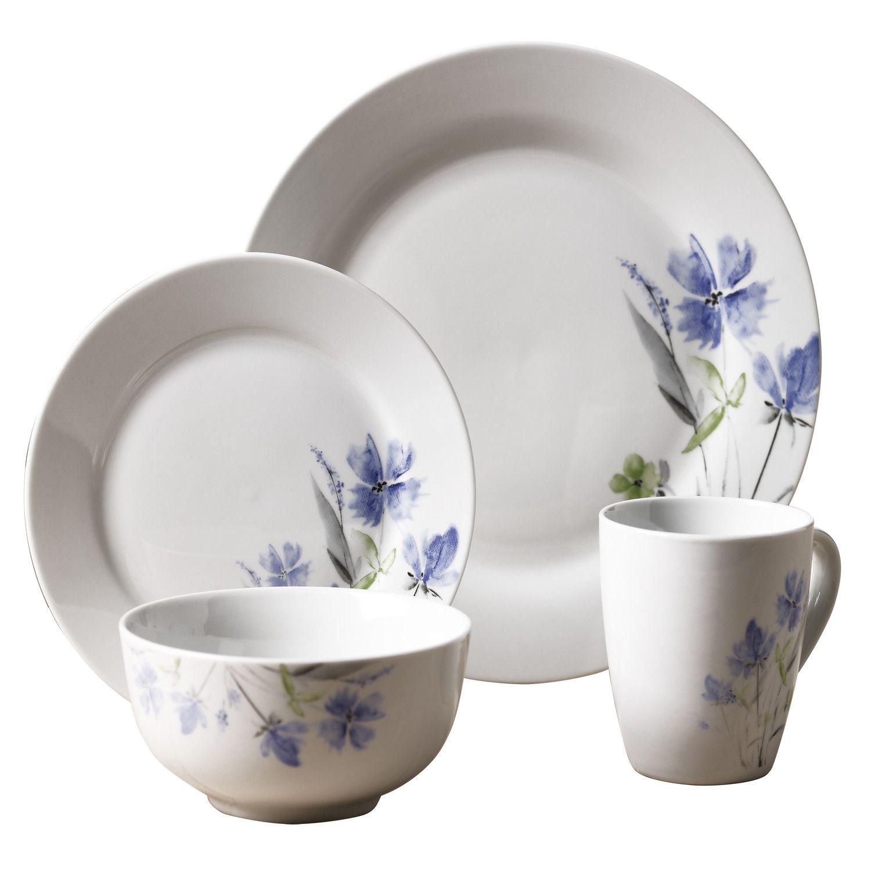 Tabletops Gallery Wildflower 16 Piece Dinnerware Set
