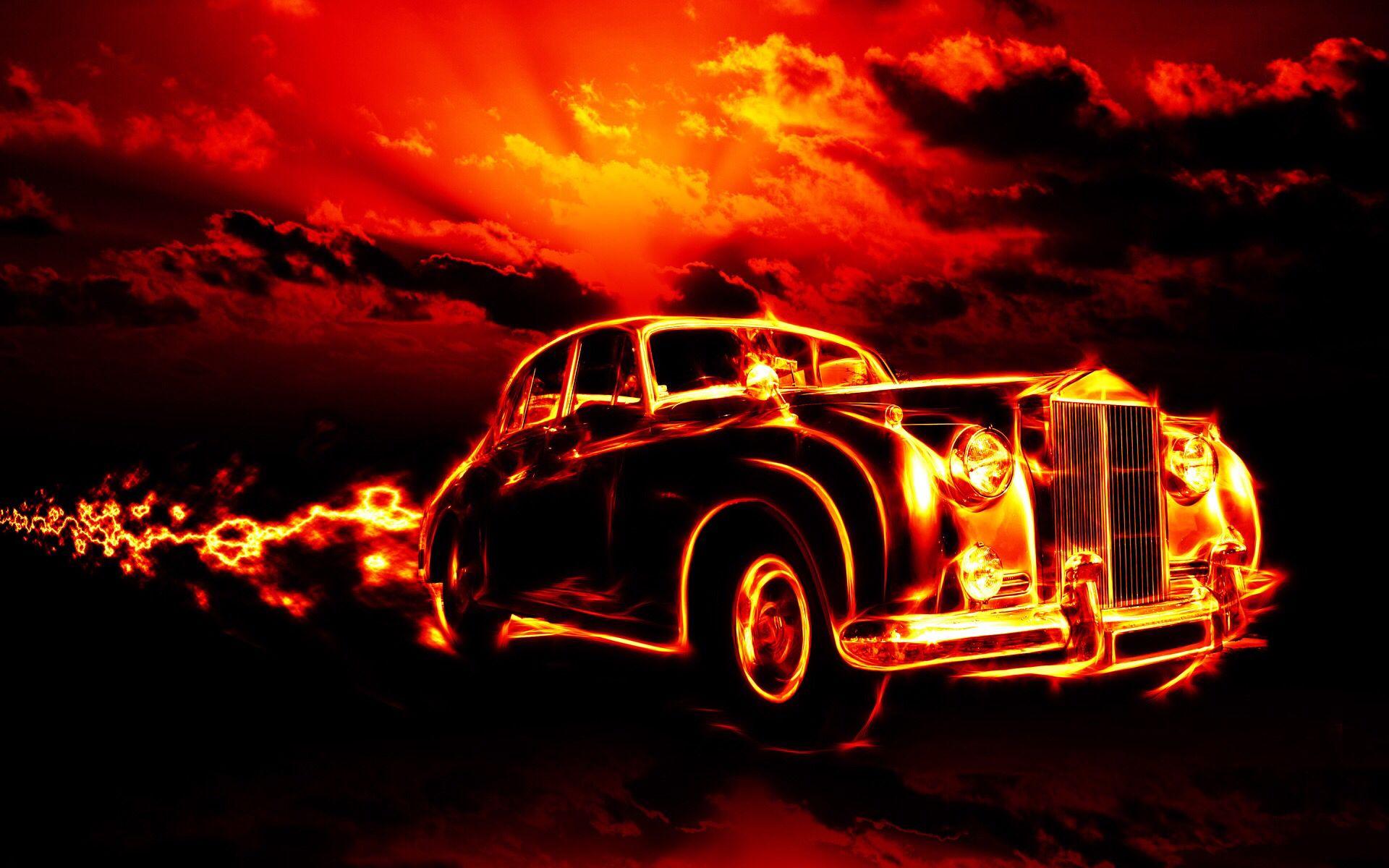 Rolls Royce Fire Art Desktop Wallpaper New Car Wallpaper Computer Wallpaper