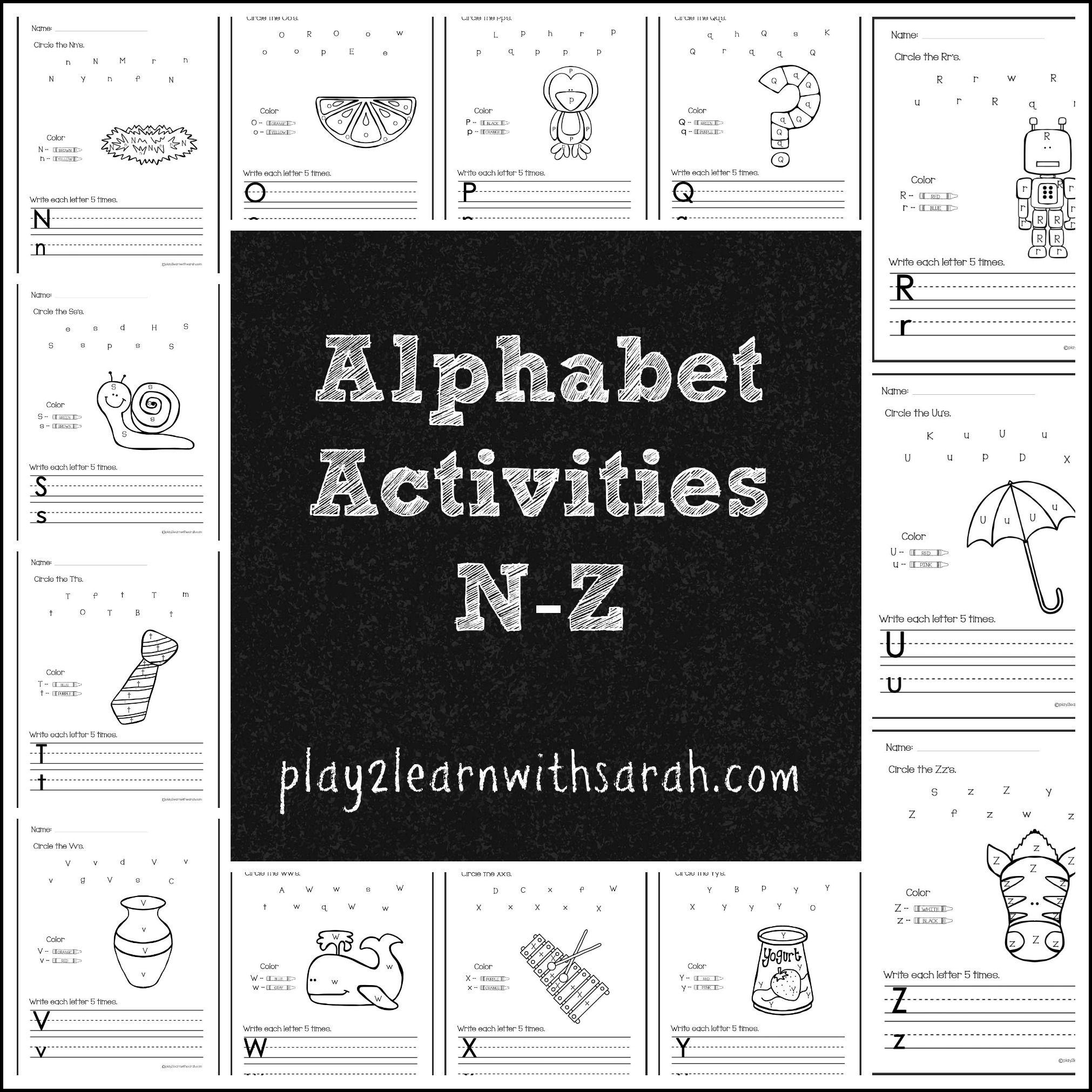 Alphabet Activities Free Printables For N