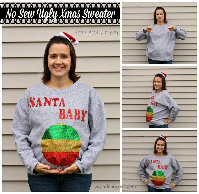 f42c14db How would you like to make a no sew maternity ugly Christmas sweater?  Today's your day! As a part of Blueprint Social, I got to try a whole slew  of T