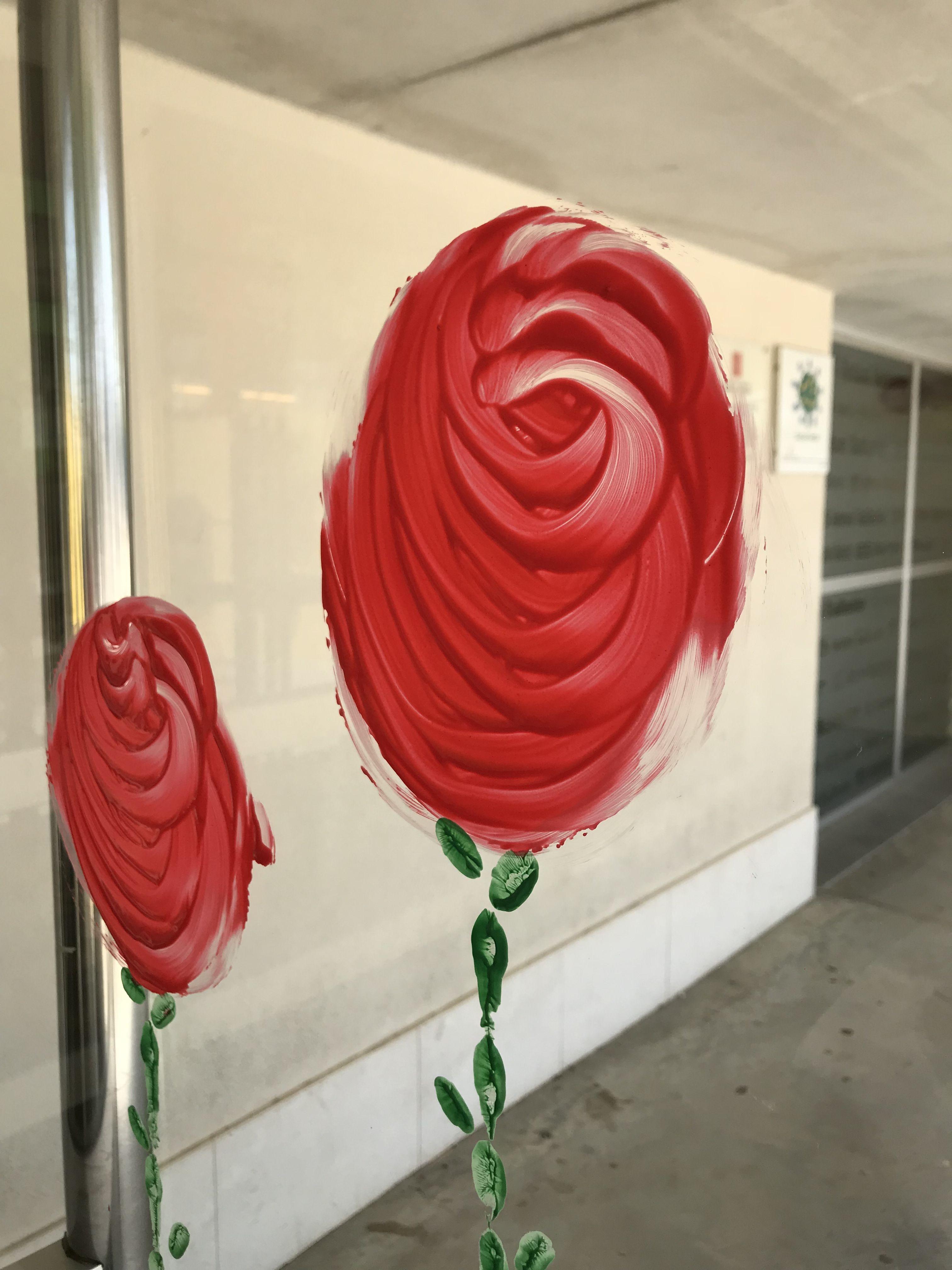 Rosa Pintada Al Vidre Recepta Aigua Calenta I Guix Mesclar
