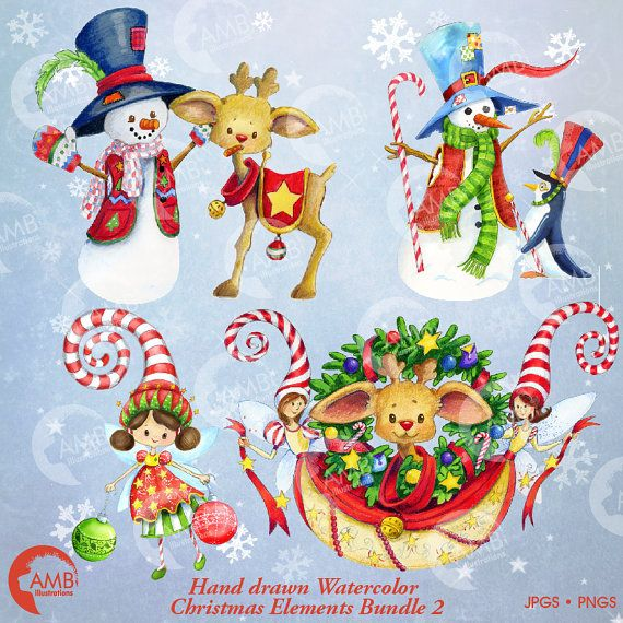 Outdoor Christmas Decorations Clipart: Un Merveilleux Pack Clipart De Vacances De Dessiné à La
