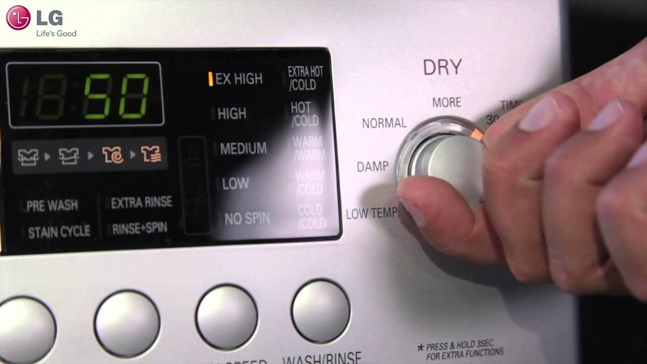 Lg Washer Dryer Combo How To Use The Dry Only Feature Lg Washer And Dryer Lg Washer Dryer Combo Washer Dryer Combo