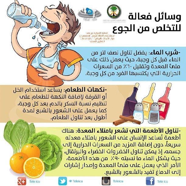 وسائل فعالة للتخلص من الجوع Beauty Health Health Positive Notes