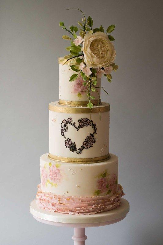 Elegant Luxury Bespoke Wedding Cakes Professionally Designed And Made In The North West