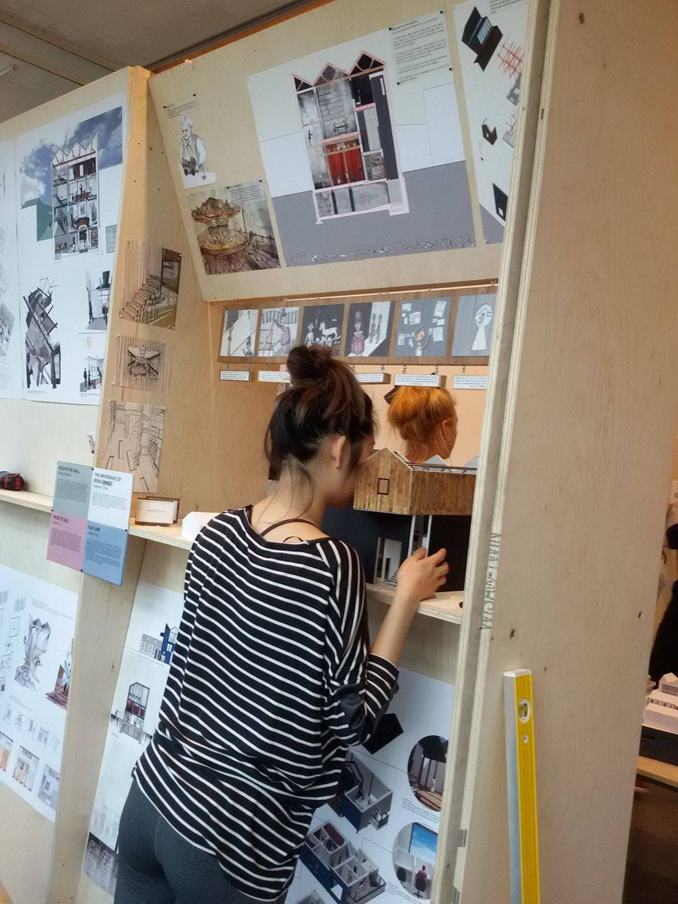 Helping Set Up The Brighton University Interior Architecture Degree Show 2015