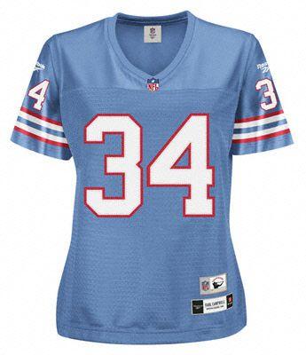 Earl Campbell Reebok Premier Throwback Player Houston Oilers Women s Jersey 5212ada4e