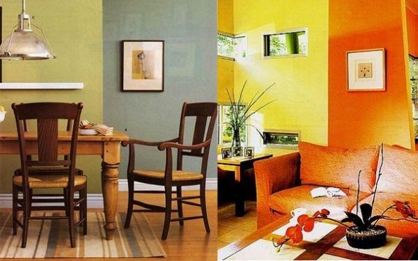 Como pintar uma sala de duas cores