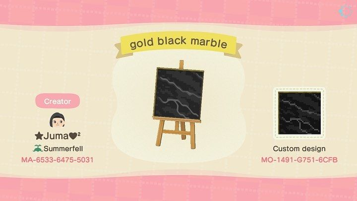 "@juma_designs on Instagram: ""Marble floors black snd white variations � #acnh #marblefloors #animalcrossing #animalcrossingnewhorizons #animalcrossingqrcodes…"""