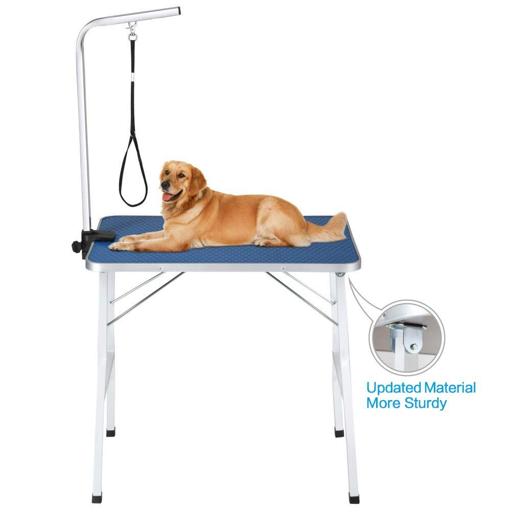 Itori 32 Professional Grooming Table For Dogs And Pets Which Is Foldable And Durable With Adjustable Arm Stainless Dog Grooming Dog Grooming Supplies Pet Dogs