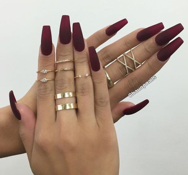 Long Red Acrylic Nails Pinterest Pictures to Pin on Pinterest - PinMash