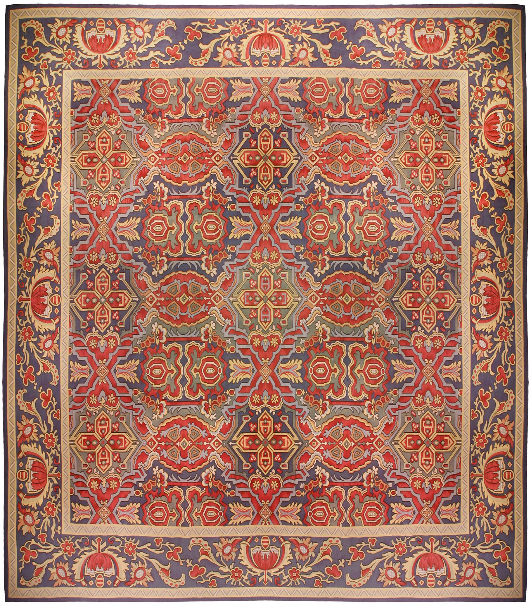 Large Aubusson Rug: Oversized Antique French Aubusson Carpet