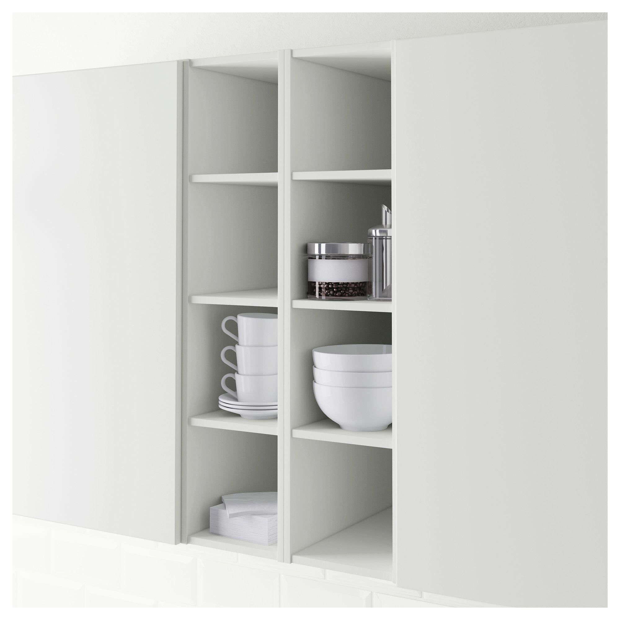 H–RDA Open cabinet White 20x37x80 cm