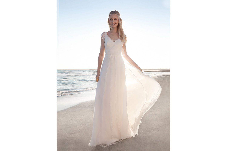 Rembo styling — Vintage — Esprit: Einfaches Chiffon-Kleid mit Empire ...
