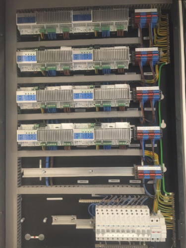 A Lutron QS system housed in a Future Automation enclosure ...