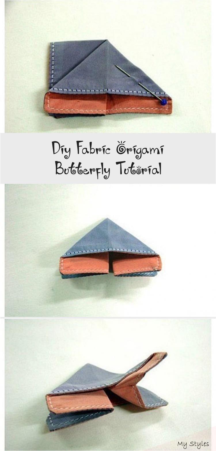 Photo of DIY Stoff Origami Schmetterling Tutorial #origamiBall #DIYorigami #Manualidadesorig …