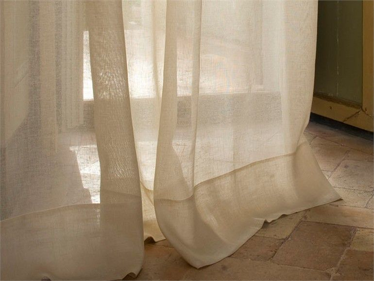 Solid-color linen fabric for curtains Lino Unito by Mastro Raphael ...