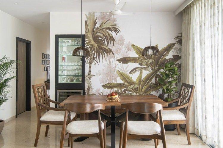 Modern Tropical Living Room Reveal One Brick At A Time In 2020 Tropical Living Room Tropical Dining Room Living Room Reveal