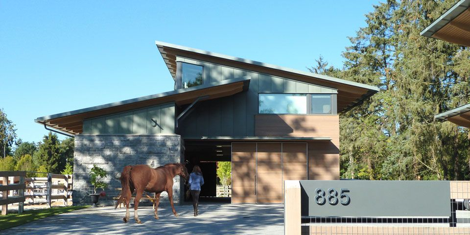 Equestrian Residence Rural West Coast Residential Architecture
