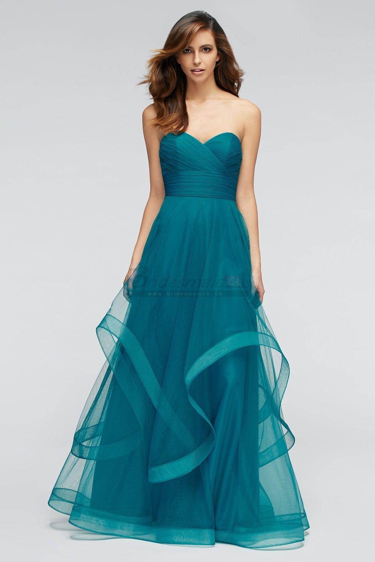 A Line Long Sweetheart Neckline Blue Teal Greens Bridesmaid Dress BD ...