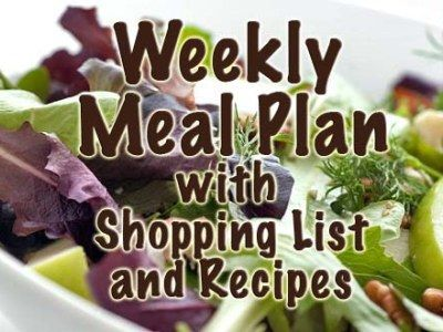 easy meal plan with shopping list and recipes for weight loss