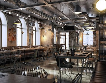 """Check out new work on my @Behance portfolio: """"INDUSTRIAL CAFE DESIGN"""" http://be.net/gallery/46620803/INDUSTRIAL-CAFE-DESIGN"""