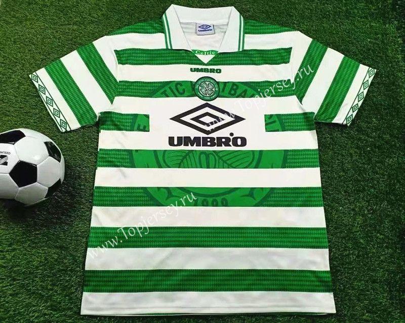Retro Version 1997-1999 Celtic Home White   Soccer jersey, Retro ...