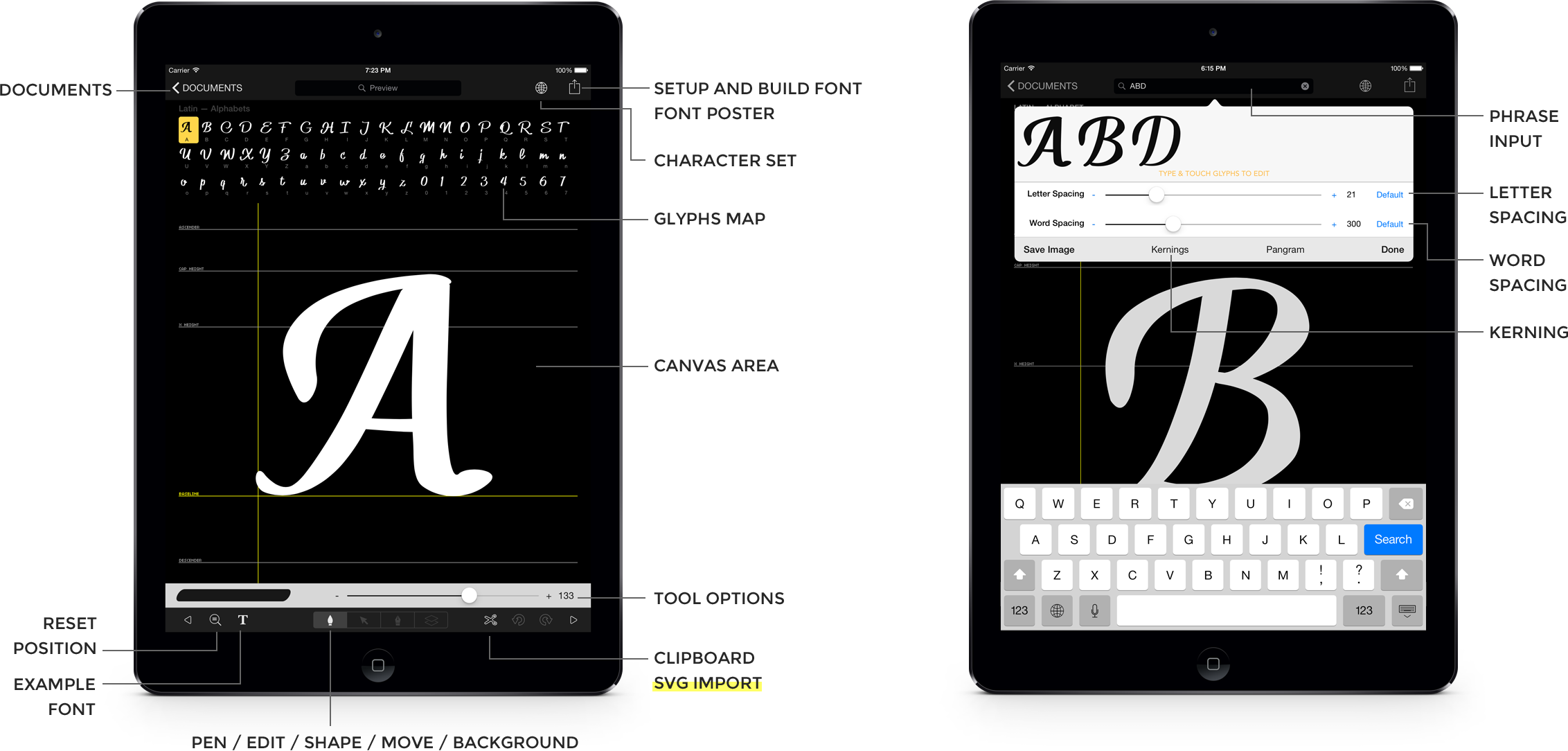 iFontMaker Create your font in 5 minutes on your iPad