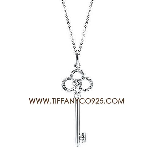 Tiffany keys crown key pendant necklace with diamondstiffany tiffany keys crown key pendant necklace with diamondstiffany necklaces aloadofball Image collections