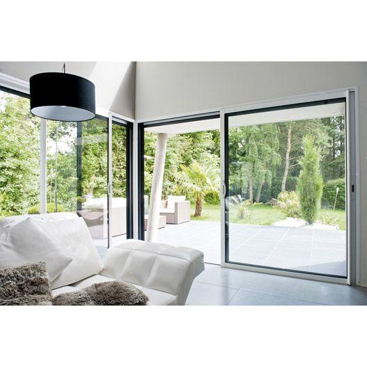 baie vitrée coulissante en aluminium excellence 215x180cm