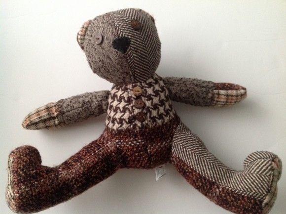 Fossil patchwork teddy bear