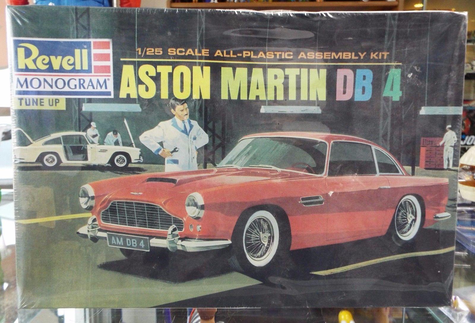 sealed revell monogram aston martin db-4 model kit # 562 1/25