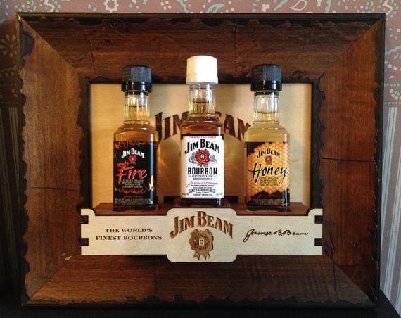Man Cave Mini Bar : Man cave mini bar: jim beam family wall mount for 3 x 50ml