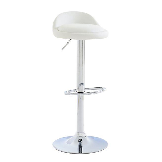 Sofia Tabouret Haut Reglable En Hauteur Blanc Console Meuble Tabouret Haut Mobilier De Salon