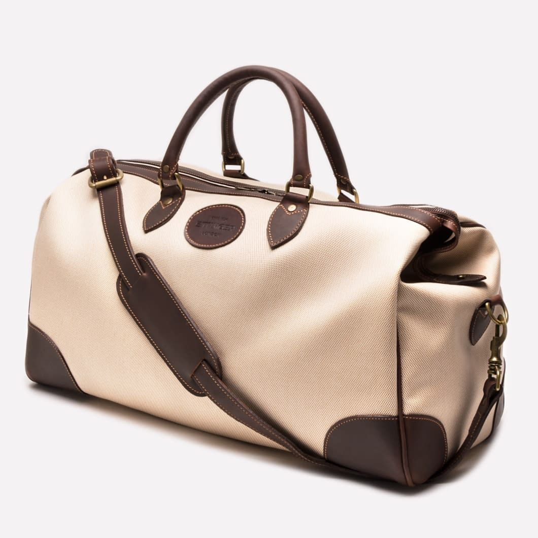 7d7b269bf Ettinger London - Luxury Leather Goods – Pursuits Collection – Hurlingham Overnight  Bag - Ivory