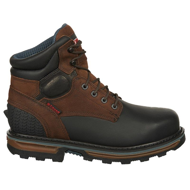 Rocky Mens Dark Brown Boot Boots Block Elements 6 Eh Steel Toe Waterproof Work