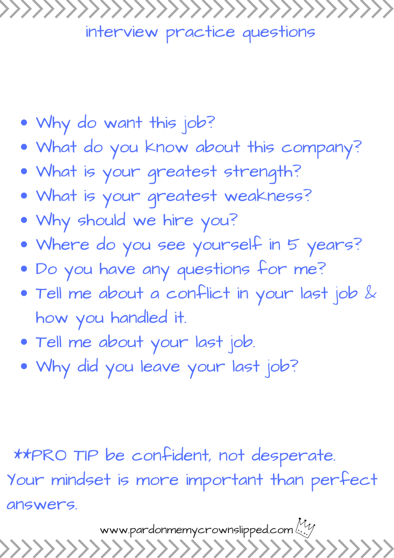 Job Interview Practice Questions | This or that questions ...