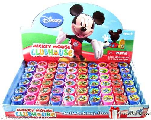 Just under $20 USD for these party favors -----(24) Disney Mickey Mouse & Friends Self-Ink Stamps Party Favors - New Free Ship
