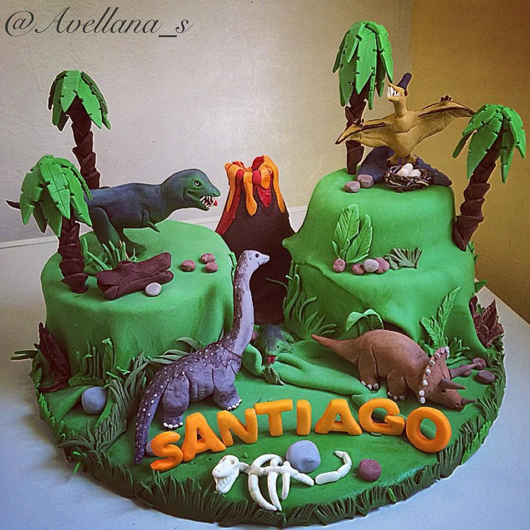 Cake prehistoria dinosaurios birthday party ideas Pinterest