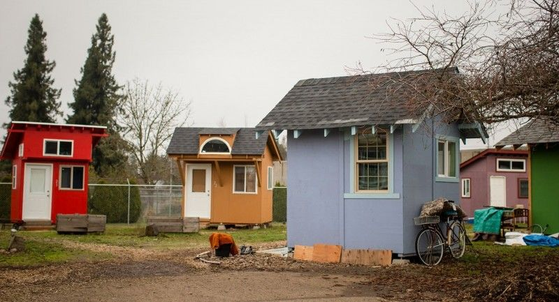 Tiny Houses And In This Case An Attempt To Help The Homeless Tiny House Village Tiny House Community Modern Tiny House