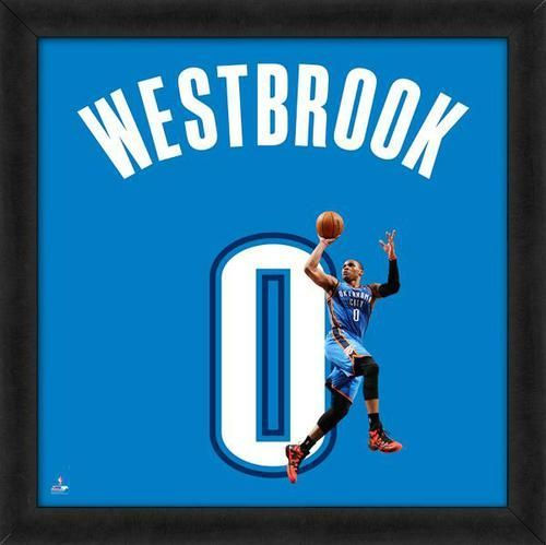 Russell Westbrook Framed Oklahoma City Thunder 20x20 Jersey Photo