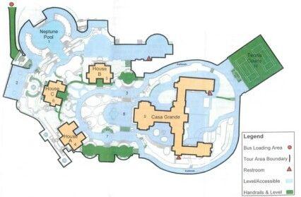 Tour Map Of Hearst Castle Mansions Castle Floor Plan