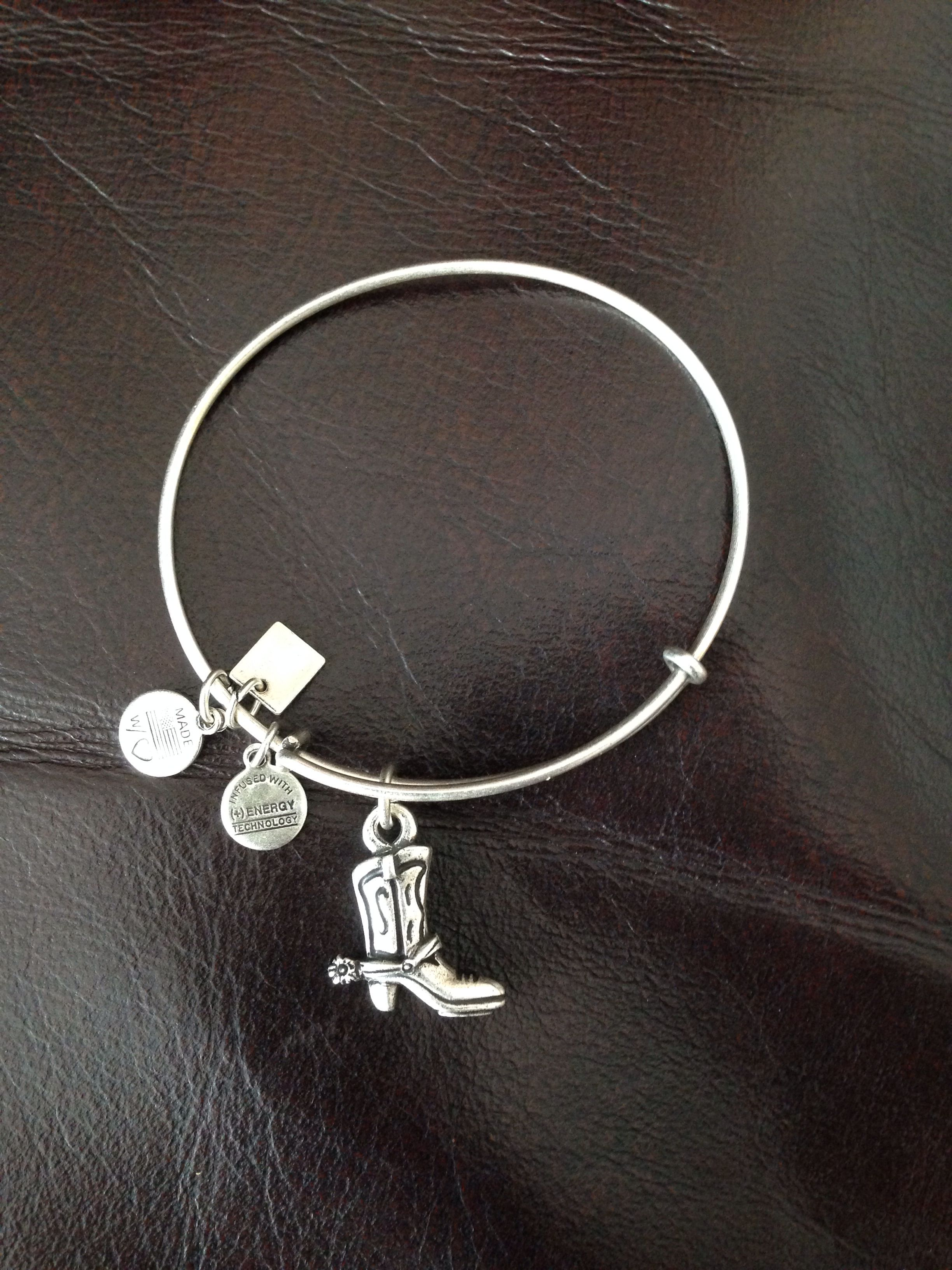 Alex And Ani Cowboy Boot Annie Bracelets Cute Bangle
