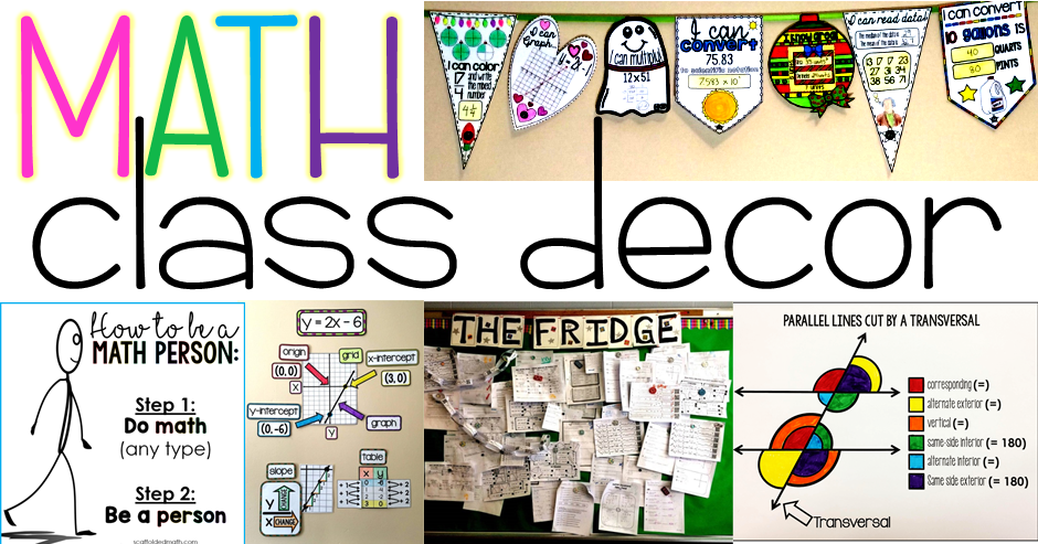 Math classroom decoration ideas #elementaryclassroomdecor