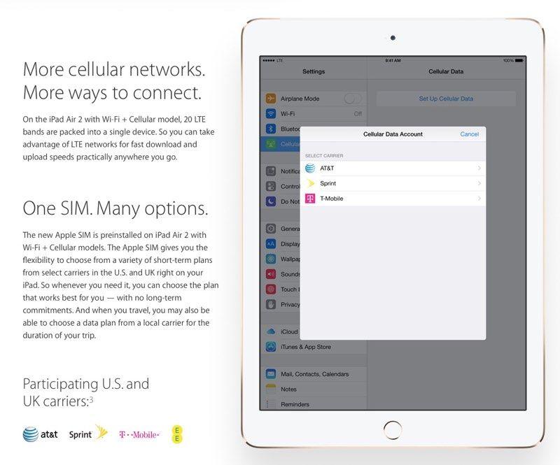 """Apple SIM, la carte SIM """"universelle"""" sauce Apple ! Ipad"""
