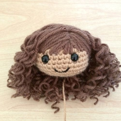 Amigurumi Curly Doll : Curly amigurumi hair tutorial here http stitches