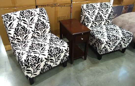 Stylish Avenue Six 3Piece Chair Accent Table Set Costco