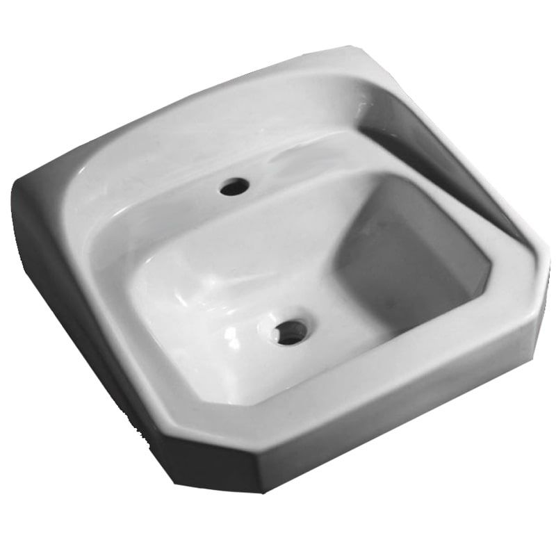 Proflo Pf5511 21 Wall Mounted Bathroom Sink With 1 Hole Drilled