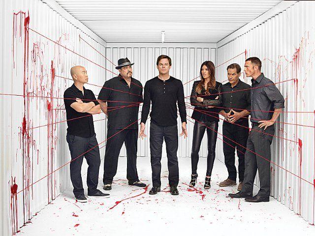 James Remar, Michael C. Hall, C.S. Lee, David Zayas and Jennifer Carpenter in Dexter (2006)